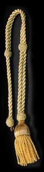 First Communion Shoulder Cord is Gold Braided with Tassel SIFCP8