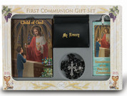 Child of God Missal first communion set with missal rosary bookmark scapular blessed sacrament pin and pouch for boy HI5271