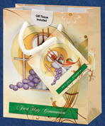 First Communion Gift Bag with Blessed Sacrament comes with tissue and gift tag select from 2 Sizes LUM1652