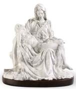 White Pieta Statue