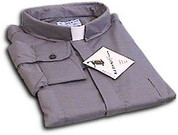 Grey Long Sleeve Clergy Shirt