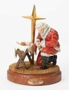 "Kneeling Santa Figure |  with Star | 10.5"""