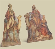 2 Piece Plaque 3 Kings Giclée on Fiberboard taller piece measures 18 and 1 half inches RO33885