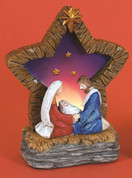 Holy Family Nativity Figurine with Lighted Star made of Resin LRI307208A
