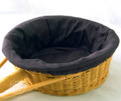 Black Round Collection Basket Liner - Removable