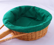 Green Round Collection Basket Liner - Removable