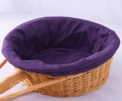 Purple Round Collection Basket Liner - Removable