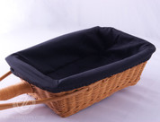Black Rectangular Collection Basket Liner - Removable