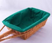 Green Rectangular Collection Basket Liner - Removable