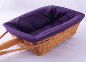 Purple Rectangular Collection Basket Liner - Removable