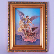 Saint Michael Photo With Gold Ornate Frame