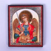 Saint Michael Russian Icon Holding Sword