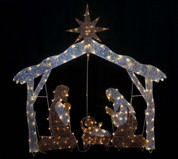 Outdoor - Nativity scene with the Holy Family LED Lighted Style SASNATIVITY72