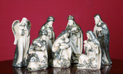 7 Piece Nativity Scene Set Filigree Style in Resin Figures Statues trix7091