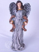 Angel Figure for Christmas in Resin Burlap Style trix8605a