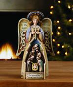 Angel - with the Holy Family Nativity Scene Style NAP44995