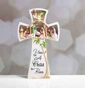 Christmas Cross - Nativity Scene Style NAP45990