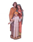 """24"""" Wooden Holy Family Demetz Statue- 140324DTCSALE"""