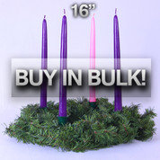 "Advent Wreath 16"" Diameter BUY IN BULK & SAVE NOW"
