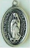 Our Lady of Guadalupe Silver Oxidized Medal