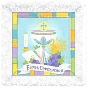 First Communion Paper Dinner Square Plates Style Size 10 inches AN721213