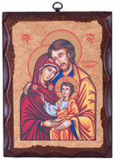 Holy Family Plaque and 3 quarters by 3 and 1 half inches Made In Italy LAL025