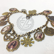 15 medal saint bracelet with momma mary st anthony holy spirit and saint benedict medal1