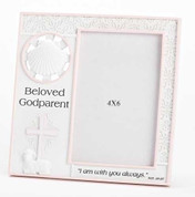 Godparent Photo Frame - Pink Style RO42799