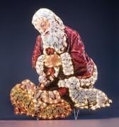 Kneeling Santa Yard Art - Style RO165122