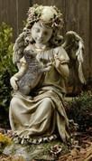 Angel with Kitten Garden Statue - Style RO47443