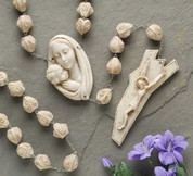 Alabasterite Wall Rosary - Style RO6