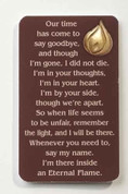 Memorial Flame Pin with Prayer Card - Style RO64274