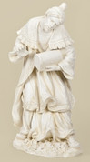 1 Piece Nativity King Balthazar made of White Resin measures 37 by 19 and 3 quarter by17 and 1 half inches RO38023
