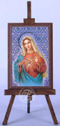 Framed Icon with Immaculate Heart of Mary - Style FAR1221C52