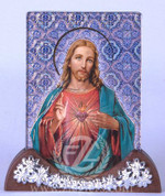 Plaque with Sacred Heart of Jesus - Style FAR1305C02