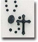 Rosary in Black Plastic - Style HI11101