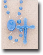 Rosary in Blue Plastic - Style HI11104