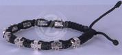 Faith Cross Bracelet | Corded | Cross Beads | Adjustable Size | Black