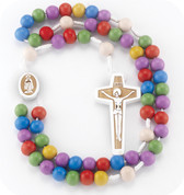Rosary for Children with Color Beads - Style HI01181MC