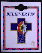 Rainbow Holy Spirit Lapel Pin - Style FSCG269