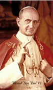 Holy Card for Pope St Paul VI - Style JB4026L