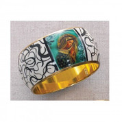 Bangle Bracelet with Our Lady of Grace - Style MABR485C