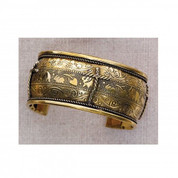 Bangle Bracelet with Cross Design - Style MABR488C