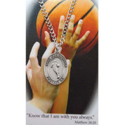 St Christopher Medal for Basketball - Style MAPSD675BK