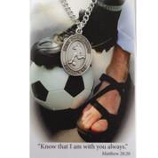 St Christopher Medal for Soccer - Style MAPSD675SR