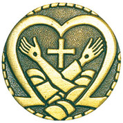 Lapel Pin of Jesus and St Francis - Style TSB98