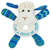 Wee Blessings - Levi the Little Lamb Rattle - WBIW201540