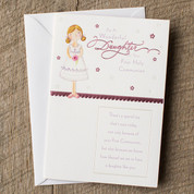 First Communion Daughter Greeting Card - Style OP80881