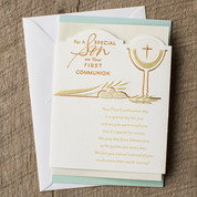First Communion Son Greeting Card - Style OP80882