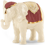 1 Piece Nativity Elephant from Lenox Porcelain First Blessings collections ivory with hand-painted crimson and gold accents 7 and 1 half inches tall LEN829416A